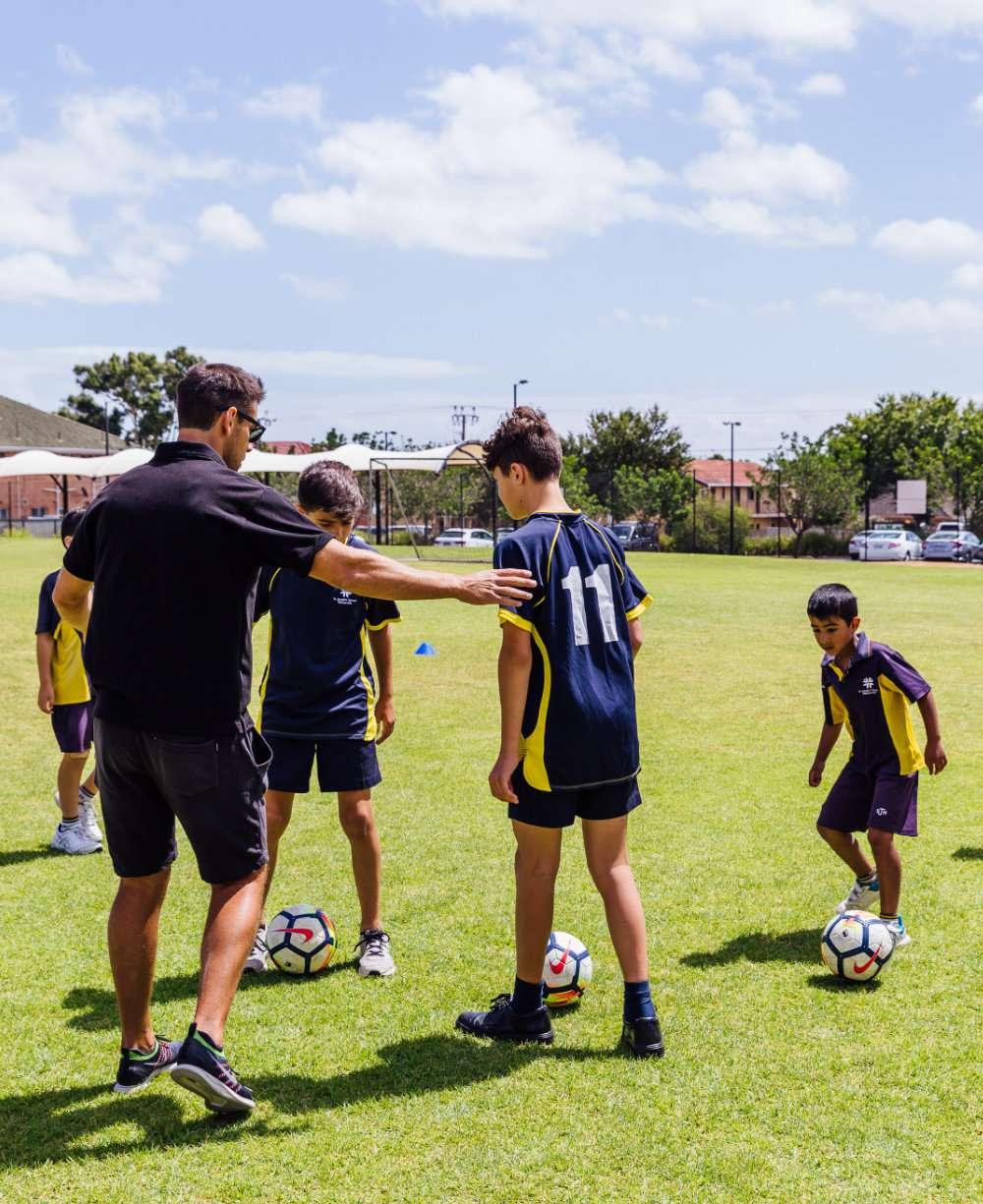 St Josephs Hectorville playing soccer