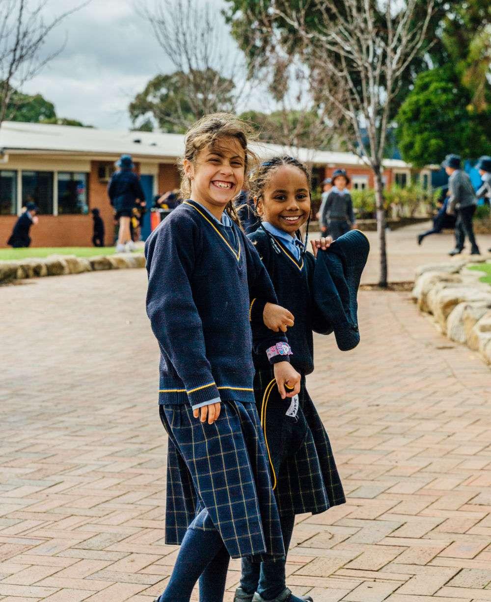 St Josephs Hectorville two smiling girls