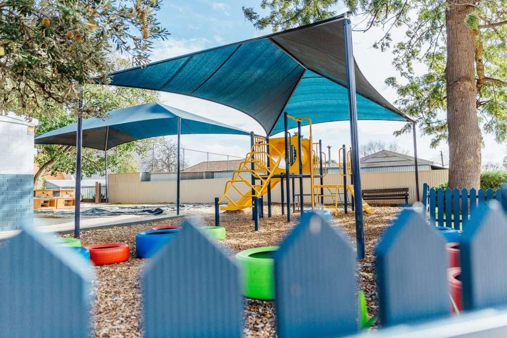 Covered school playground